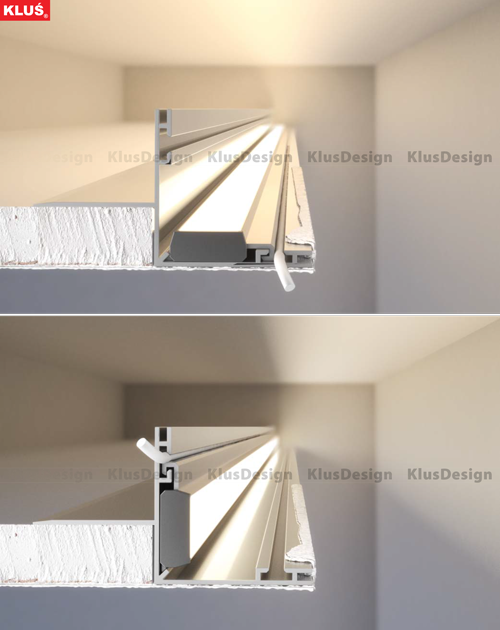 Led Lighting Extrusions For Recessed Illumination