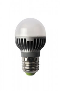 LED energy saving bulb. Isolated object