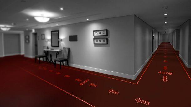 LED built into carpet