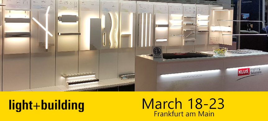 KLUS LED Lighting Designs To Be Featured At The Light + Building Show, in Frankfurt Germany.