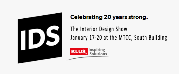 KLUS LED lighting products featured at The Interior Design Show in Toronto