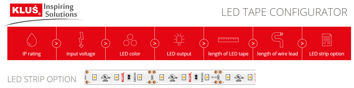 KLUS Design Launches Online LED Tape Configuration Tool