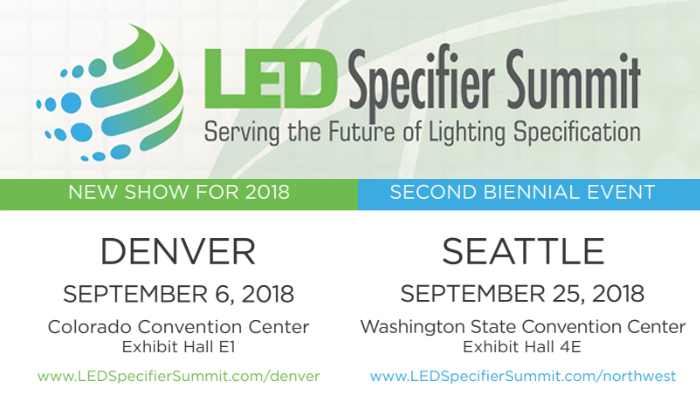 KLUS Products On Display At Denver, CO & Seattle, WA LED Specifier Summit Events