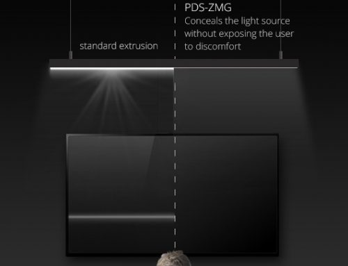 PDS-ZMG LED Lighting Extrusion – Conceals The Light Source